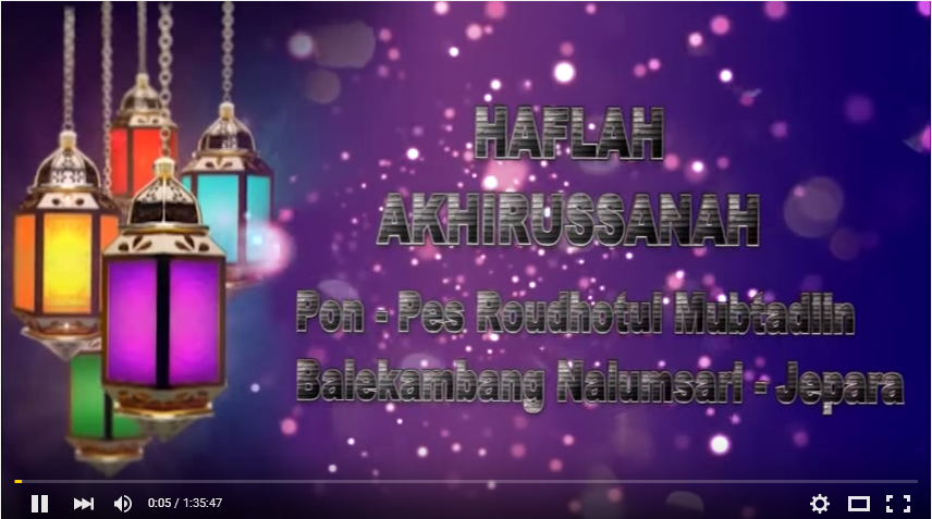 Haflah Akhirussanah Tahun 2014/2015