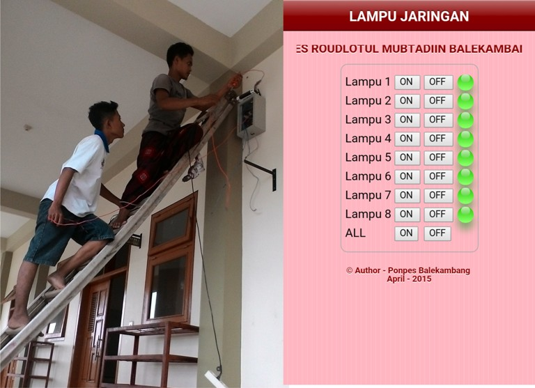 Santri AKB Membuat Saklar Lampu Via WiFi